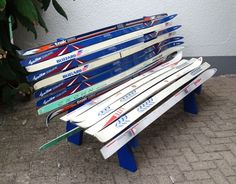 Bank aus Ski  Ski bench