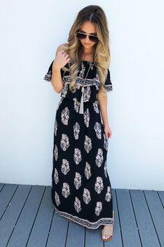 Share to save 10% on your order instantly! When You're Close Maxi: Navy/Multi