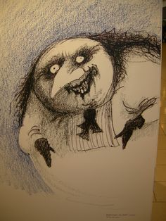 Tim Burton Creature Series drawing 1992 Tim Burton's Alice in Wonderland - concept art. Description from thecelebritypix.com. I searched for this on bing.com/images