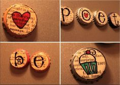 {charmed earth}: Something Magnetic: Upcycled Bottle Caps