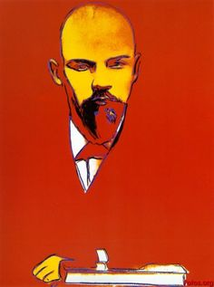 Andy Warhol - Red Lenin, 1987. makes me think of Jenn and her rendition of this