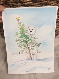 Polarbear on Christmas Day by TandFArtistry on Etsy