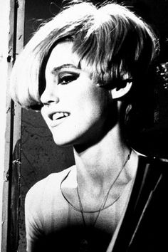 "Edie Sedgwick Part of the Beautiful People Crowd which was a group a people who hung around Andy Warhol. She unfortunately overdosed during this time she was immersed in this avant garde crowd and died a young death. The Book titled ""Edie"" was a biography about her demise."