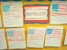 Stars & Stripes Equations... Math mini-lesson with American Flag