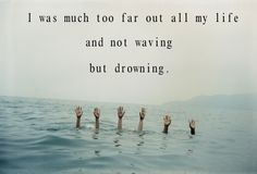 Stevie smith s not waving but drowning metaphor