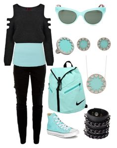 """Icy Edge"" by penfangirl ❤ liked on Polyvore featuring Joie, Boohoo, Converse, NIKE, Mia Bag, House of Harlow 1960 and Linda Farrow"