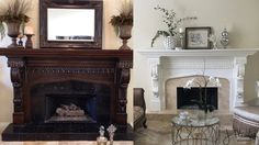 Fireplace Makeover - Going White....Makeover Magic!
