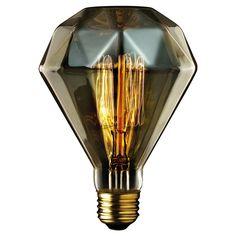 Globe Incandescent Diammante - Diamond Shaped Vintage Bulb