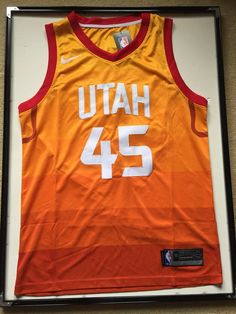 096979dca5d Men 45 Donovan Mitchell Jersey Utah Jazz City edition Yellow Orange
