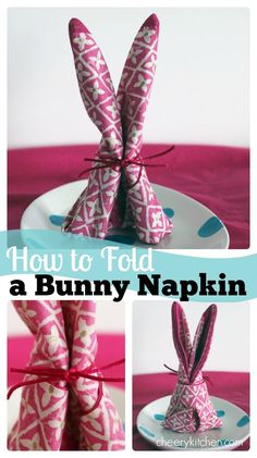 Learn, step by step, How To Fold a Bunny Napkin for your Easter and Spring table-settings. They are super cute and easy!