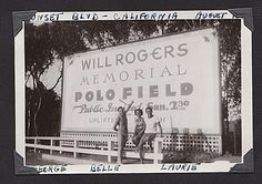Belle, Larry and George,  at Will Rogers Memorial Polo Field,Sunset Blvd.  1940