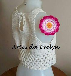 Cropped of white. Detalhes em www.elo7.com.br/lojas/artesdaevelyn