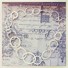 Handmade silver link necklace