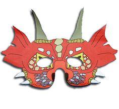 masque de dragon asiatique