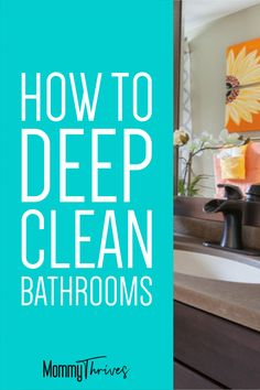 How can a room so small and meant to help you stay clean end up so messy? I'm sharing my top tips for cleaning your bathroom quickly. Clean Bathroom Grout, Bathroom Cleaning Hacks, Deep Cleaning Tips, Cleaning Checklist, Minimalist Parenting, Safe Cleaning Products, Work From Home Tips, All Purpose Cleaners