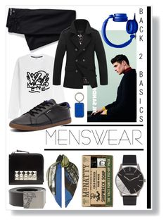 """Menswear Basics"" by captainsilly ❤ liked on Polyvore featuring Versace, Mr Natty, Comme des Garçons, Lands' End, Kenzo, Paul Smith, Ben Sherman, Forever 21, Tumi and mens"