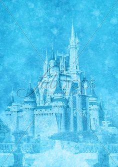 Frozen Castle Party Photography Backdrop