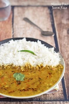 Cookingwithsapana: Moong Sabut Dal with Jeera Rice