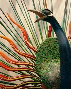Alebrije Peacock, Museo de Arte Popular Mexicano, México
