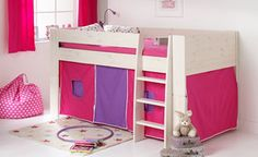 Solitaire Whitewash Midsleeper with Pink & Purple Tent