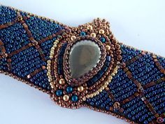 Bead Embroidery Armband OOAK Seed Bead Armband Fabege von Vicus, $100.00