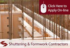 Shuttering and Formwork Contractors Public Liability Insurance