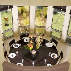 Round Table With Lazy Susan Middle For Informal Dinning Room