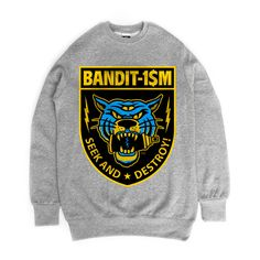 TIGER FRONT CREWNECK GREY