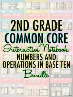 Interactive Notebook: 2nd Grade CCSS Numbers and Operations in Base Ten from Blair Turner on TeachersNotebook.com (161 pages)  - This set of Interactive Notebook Activities will keep your second grade students engaged and excited about math this year! This set focuses on place value concepts, properties of operations, and addition and subtraction. It is aligned with Common Core sta