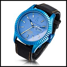 "ALESSANDRO BALDIERI [Italy] ""Retrospec"" 45mm Watch S/S Case ""BLUE"" Finish BNIB   GRAB A BARGAIN NOW! - * A £0.99 NO-RESERVE AUCTION *"