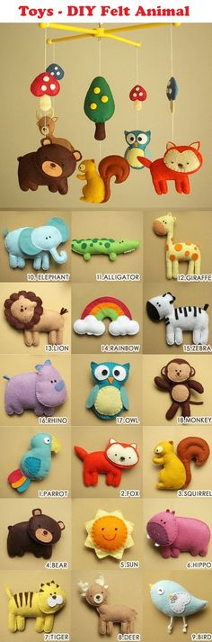 Cute Homemade Felt Animals