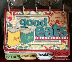 Farmhouse Recipe Book - scrapbooking recipe craft idea, holds recipes cards by Katie Watson Mini Albums, Mini Scrapbook Albums, Scrapbook Recipe Book, Smash Book, Envelopes, Great Teacher Gifts, Recipe Organization, Food Journal, Recipe Journal