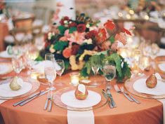 Rose gold pear place cards