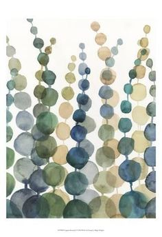 Megan Meagher Solid-Faced Canvas Print Wall Art Print entitled Pompom Botanical I Painting Frames, Painting Prints, Watercolor Paintings, Watercolor Art Diy, Wall Art Prints, Framed Prints, Canvas Prints, Big Canvas, Diy Tableau