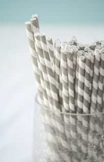 grey & white straws