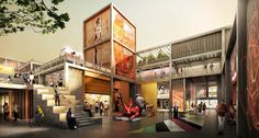 The Dubai Design District has tapped Foster + Partners to design its masterplan& second phase. Spanning one mil. Norman Foster, Arquitetos Zaha Hadid, Zaha Hadid Architects, Architecture Design, Architecture Visualization, Innovative Architecture, 3d Visualization, Dubai Design Week, Masterplan