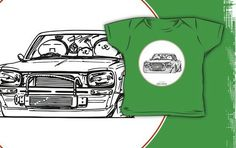 'Crazy Car Art Kids Clothes by ozizo Weird Cars, Car Illustration, Kustom Kulture, Kids Shirts, Old School, Tokyo, Kids Outfits, Finding Yourself, Japanese