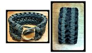 Double Wide Paracord bracelet designed and personally handmade by Leeann Tweeden