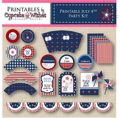 Patriotic printable party. Some can be used for queensday here in Holland.