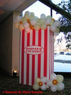 popcorn decorations | Popcorn Box with balloon popcorn.