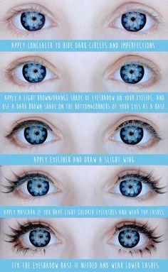 anime eye makeup - google search