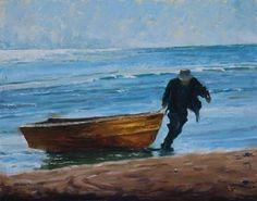 The Fisherman German, Waves, Painting, Outdoor, Art, Deutsch, Outdoors, Art Background, German Language