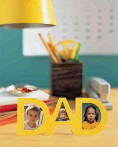 Father's Day Cutout Frame -   Kids can spell out how much they love Dad using photos of their faces, our easy frame template, and a little help from Mom.
