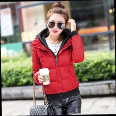 42.99$  Buy now - http://ali7gq.worldwells.pw/go.php?t=32512096574 - Winter Women Jacket 2015 New Top Winter Coat Thick Cotton-padded Parka Winter Women Short Stitching Knit Hooded Coat ZL058 42.99$