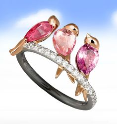 Bird trio ring....pinned by ♥ wootandhammy.com, thoughtful jewelry.