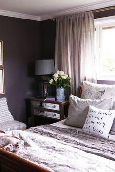purple bedroom design