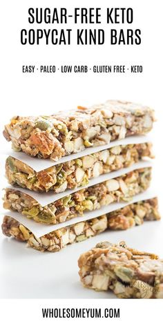 The Best Sugar-Free Low Carb Granola Bars Recipe - Kind Bar Copycat - Want to kn. lose weight in a month zoeyaltringer Losing weight The Best Sugar-Free Low Carb Granola Bars Recipe - Kind Bar Copycat - Want to know how to make homemade Kind Bars? Low Carb Granola Bars Recipe, Keto Granola, Keto Protein Bars, Healthy Granola Bars, Protein Foods, Granola Bar Recipes, High Protein, Sugar Free Protein Bars, Diet Foods