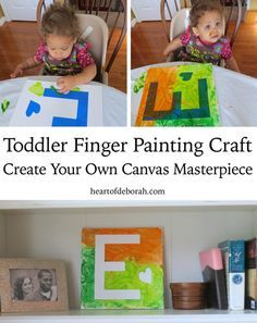 Toddler Finger Painting Craft and Sensory Play: A great toddler activity for a rainy day. Heart of Deborah