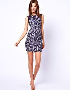 Warehouse Bonded Lace Dress