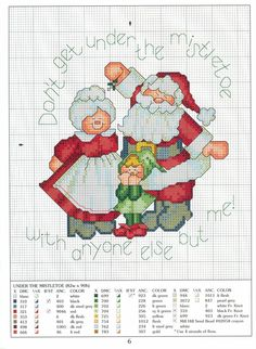 Cross stitch Santa Christmas love